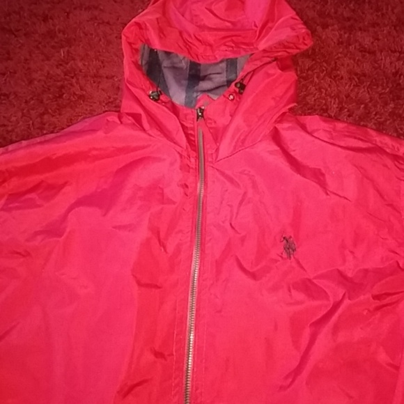 clearance prices website for discount 50-70%off Red Polo raincoat